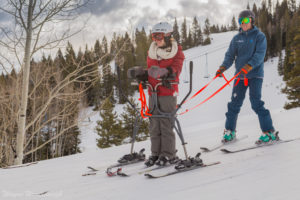 stand up skier with ski legs