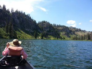 Canoeing at Porcupine Reservoir