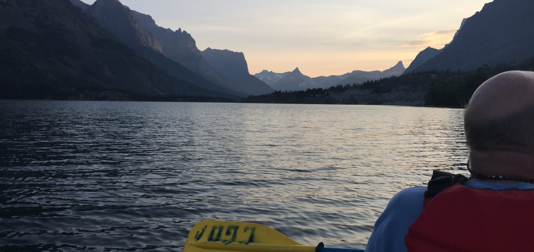 Canoeing at Glacier National Park