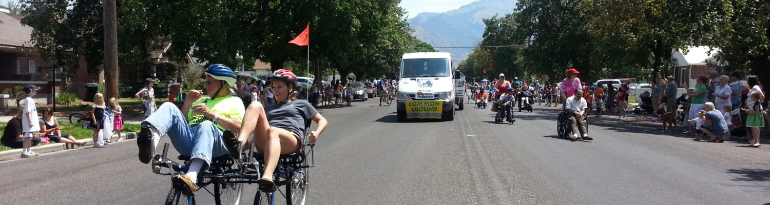 Cyclists at Pioneer Day parade