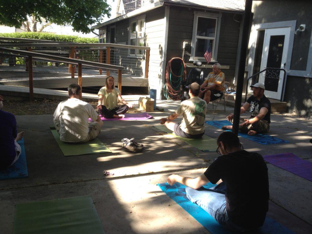 Yoga at Logan office