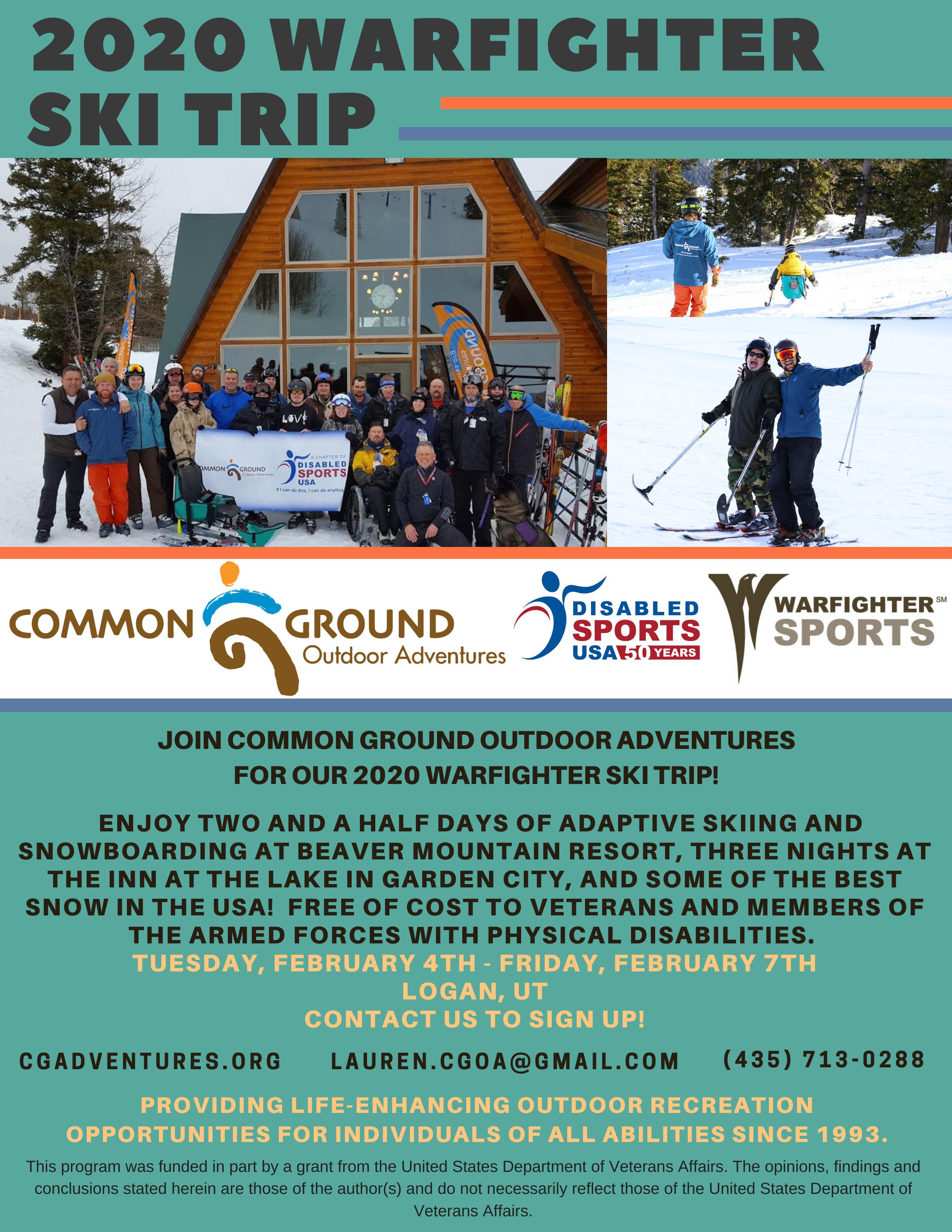 2020 Warfighter Ski Trip Flyer